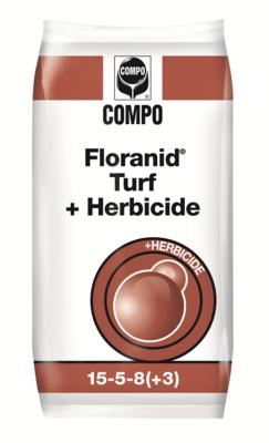 Floranid Turf + Herbicide 15+5+8+3MgO met effectieve onkruidbestrijding (3-4m) 20 kg